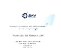 SMV Invitación – Resultados del Mercado 2016